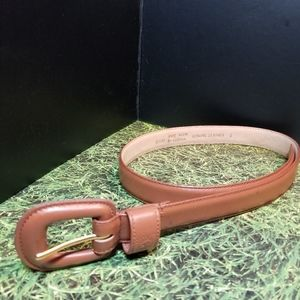 Anne Klein 100% leather brown tan belt Size Small